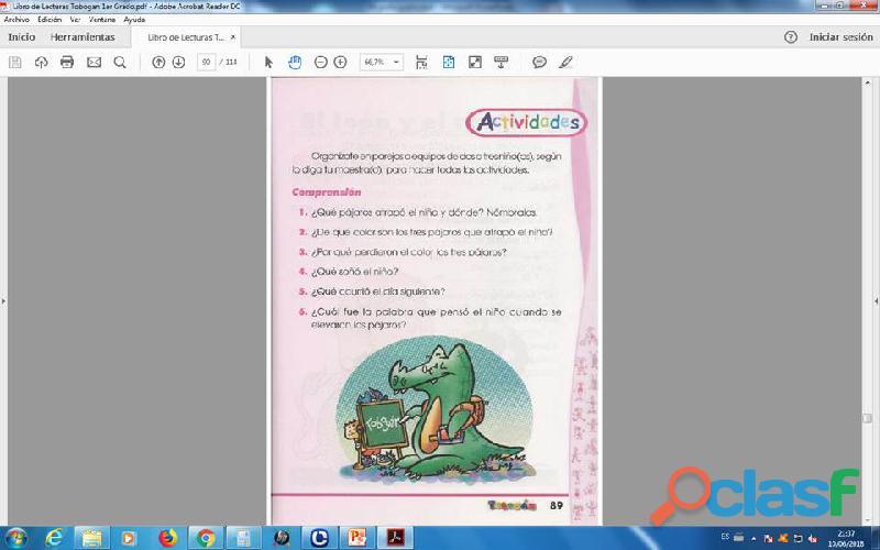 Lecturas tobogan 1er grado PDF 3