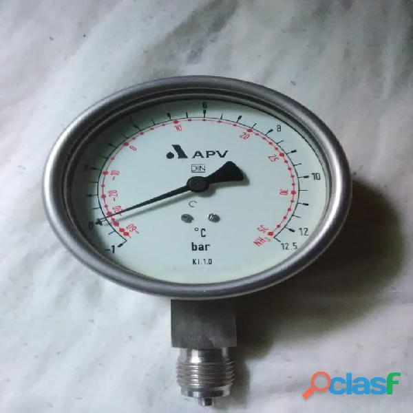 Manómetro para Refrigerante de Amoniaco (NH3)