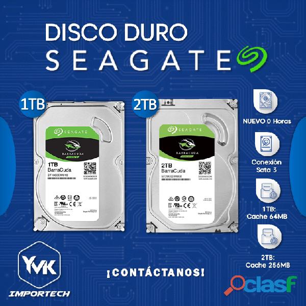 DISCO DURO 1TB & 2TB SEAGATE BARRACUDA