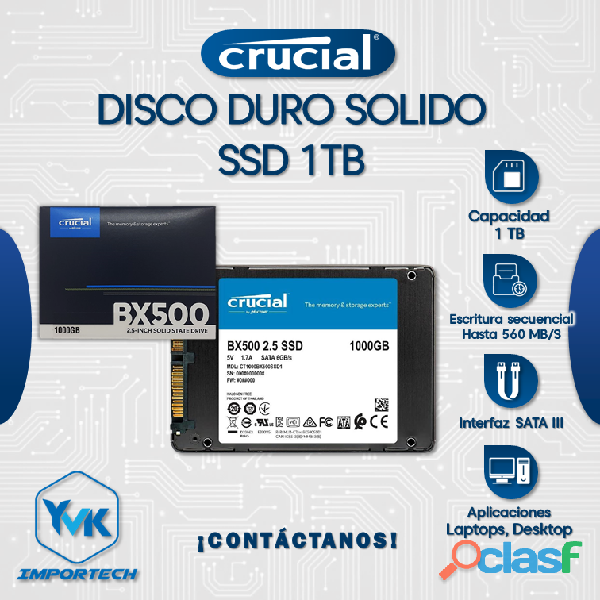 Disco Duro Solido SSD 1TB