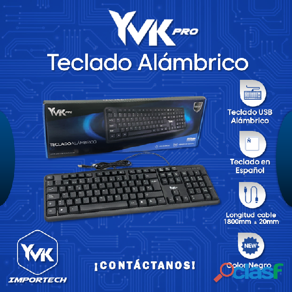 YVK PRO Teclado Alambrico