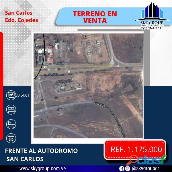 Terreno multifuncional en el estado cojedes frente al autódromo san carlos