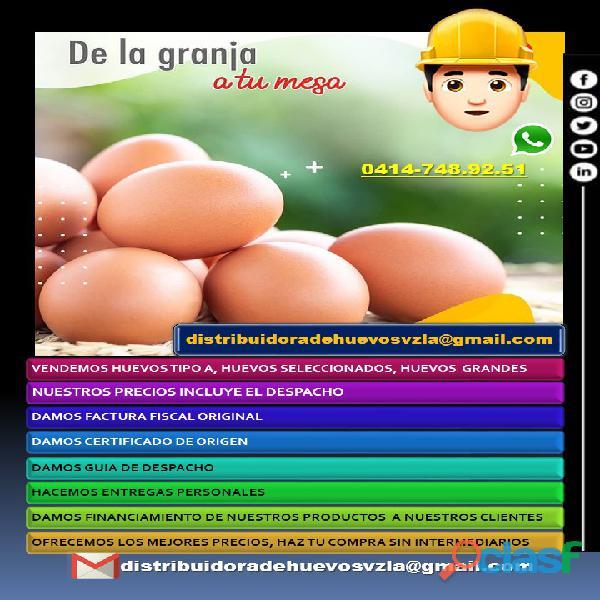 Huevos al mayor, Huevos por cajas, Huevos tipo A 2