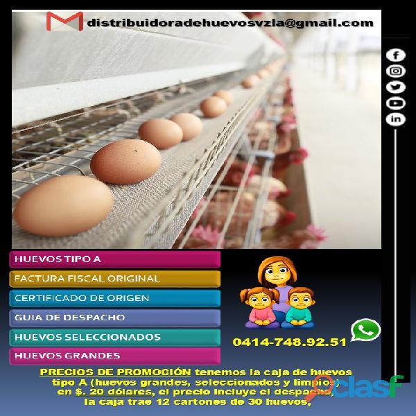Huevos al mayor, Huevos por cajas, Huevos tipo A 3