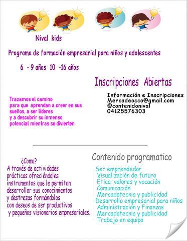 Formación empresarial para niños - emprendedores