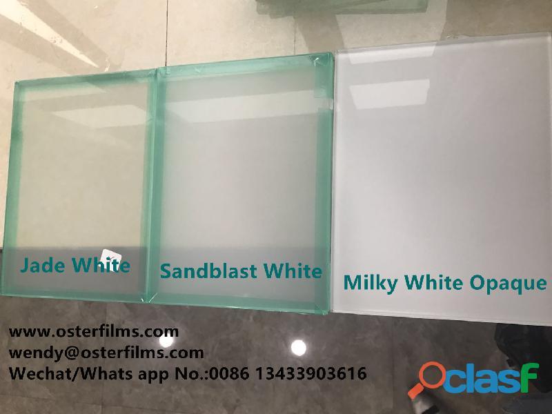 Película de EVA blanca con chorro de arena para laminado de vidrio