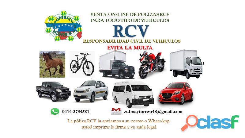 Adquiere tu RCV Responsabilidad Civil online