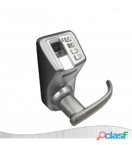 Cerradura biométrica huella digital  clave, indoor  acero 120 huellas