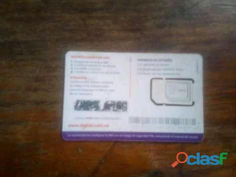 Chip comercial de recargas DIGITEL 1