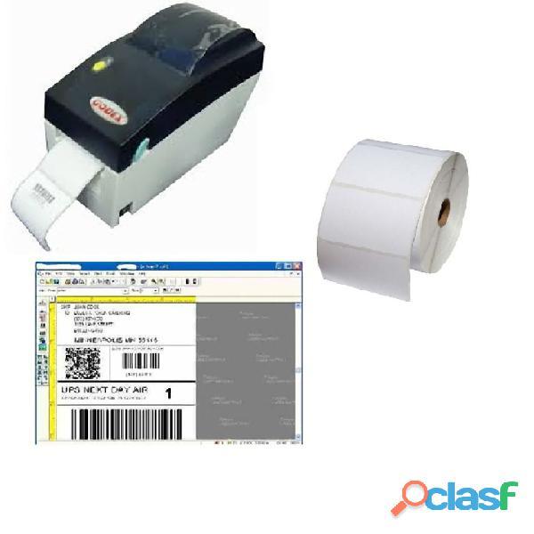 Kit impresora codigo barra godex dt2 programa etiquetas