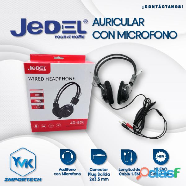 Audífonos con micrófonos marca: jedel