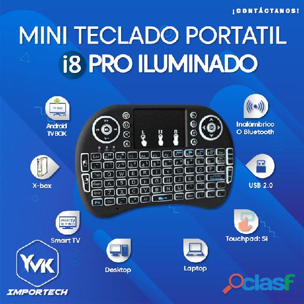 Mini teclado portatil i8 pro iluminado
