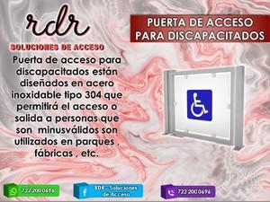 Puerta de acceso para discapacitados