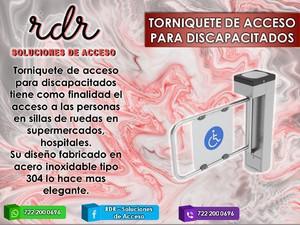 Torniquete de acceso para discapacitados