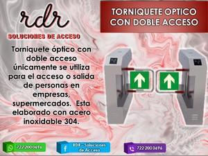 Torniquete optico con doble acceso