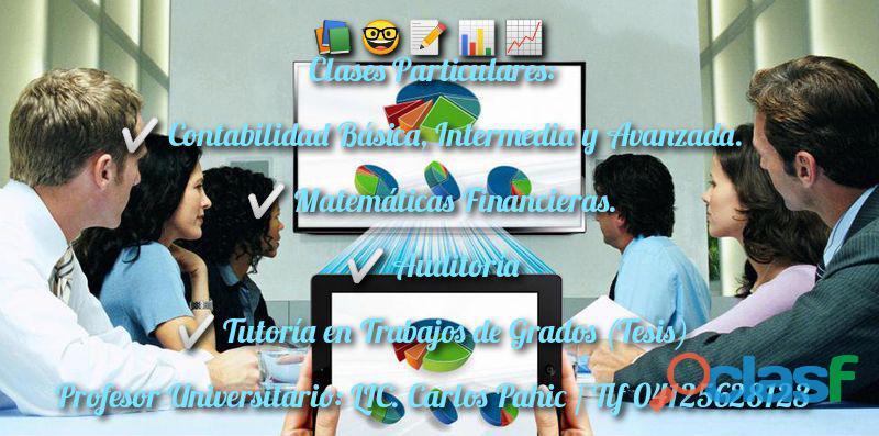Clases / Asesoría Contabilidad, Auditoría y Matemáticas Financiera