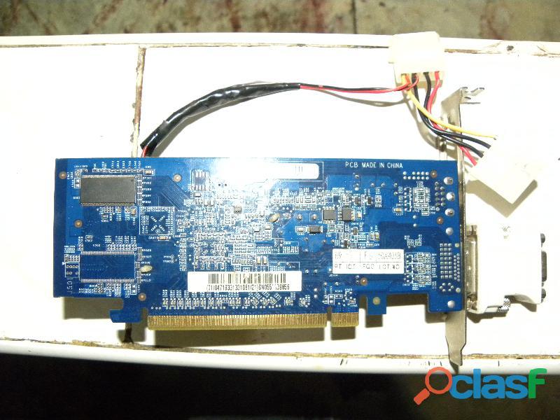 se vende tarjeta de video gigabyte nvidia geforce turbo cache 6200 de 1gb en 40$ 1