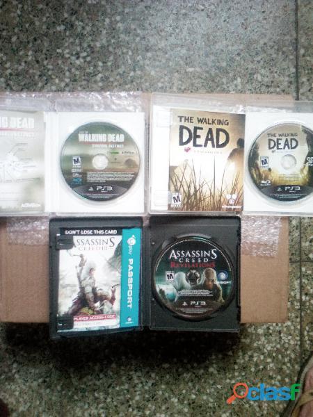 REMATO 3 JUEGOS DE PS3 THE WALKING DEAD Y ASSESSINS CREED ORIGINALES 1