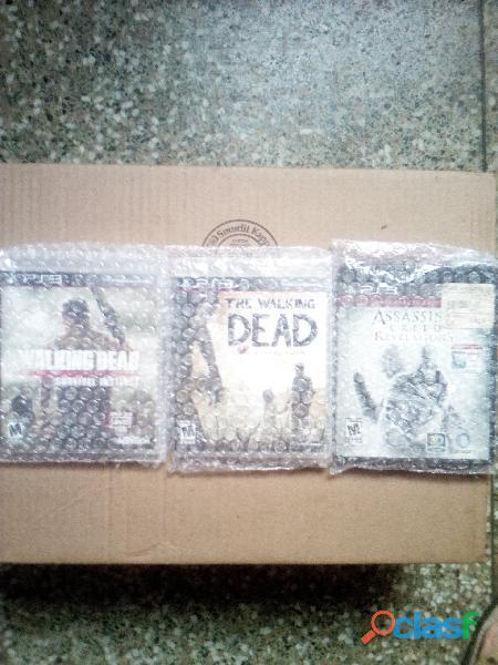 REMATO 3 JUEGOS DE PS3 THE WALKING DEAD Y ASSESSINS CREED ORIGINALES 2