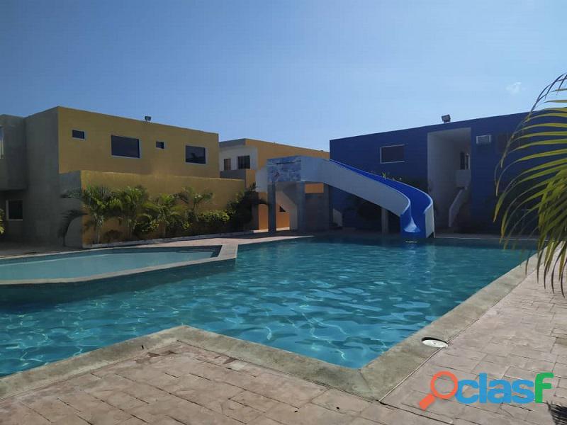 Apartamento planta baja amoblado y equipado en villa luisa amelia en ciudad flamingo chichiriviche