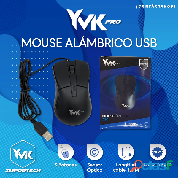 MOUSE Alambrico USB Marca: YVK PRO.