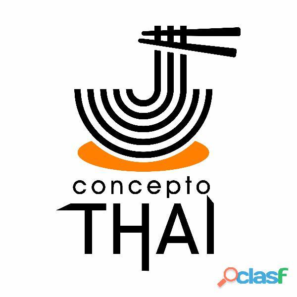 Restaurante de comida tailandesa Concepto Thai