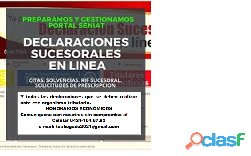 SE OFRECE ASESORÍA LEGAL, DECLARACIONES DE IMPUESTOS Y CONTABILIDADES