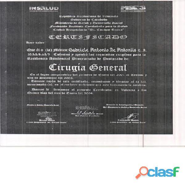 Dr Gabriele De Antoniis Cirujano General / Máster Doctorado Cirujano Oncólogo / Cirujano Mastologo 3