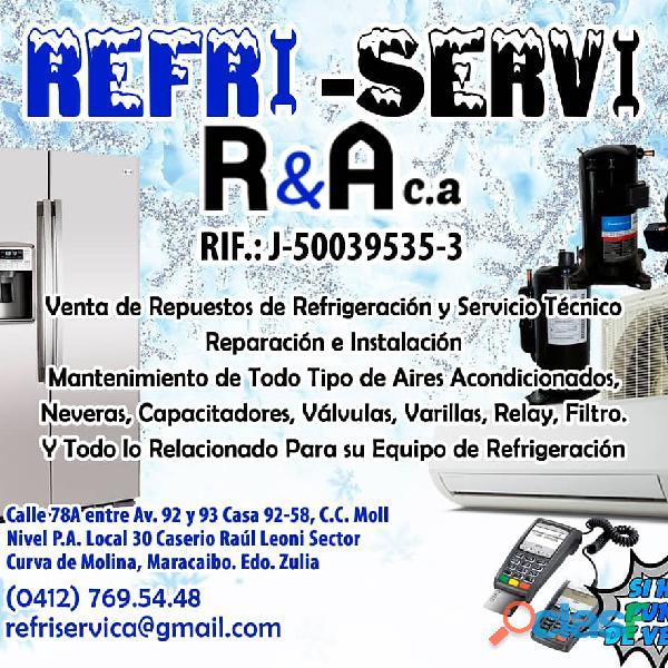 Refri servi r&a,c.a disponible tec en refrigeración en maracaibo seriedad y responsabilidad garantía