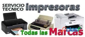 reparacion de impresoras copiadoras servicio a domicilio sin costo